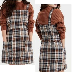 NWT AMERICAN EAGLE Plaid Fall Dress Size M